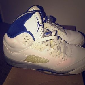 Jordan retro V white and royal