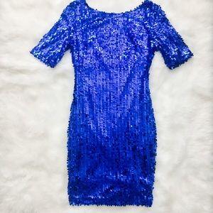 Dresses & Skirts - Beautiful Blue Sequin Dress