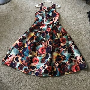 Floral printed A-Line dress