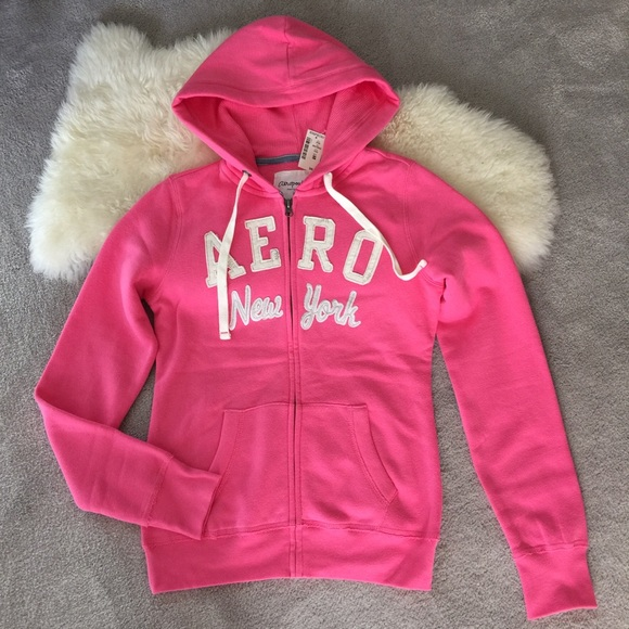 46% off Aeropostale Tops - Bright pink Aeropostale zip up ...