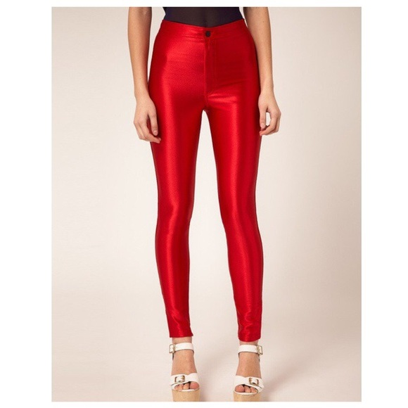 1ef24fa663b5f4 American Apparel Pants   Red Disco   Poshmark