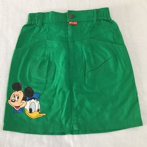 Disney Other - Green Disney skirt- Mickey Mouse + Donald Duck!