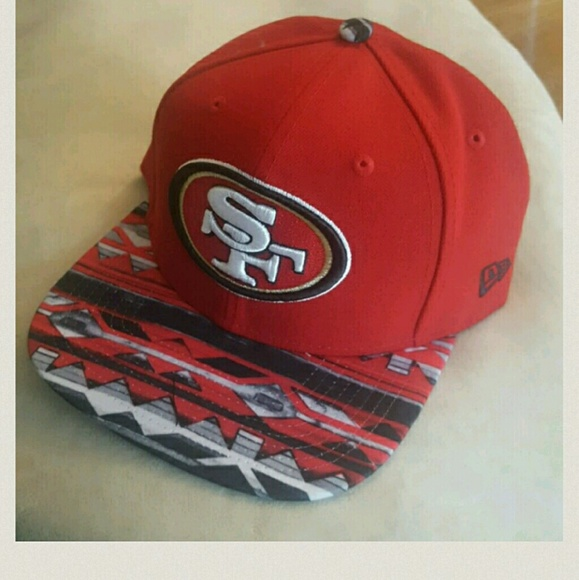 63c3cf3613b NEW SF 49ers NFL gear Red Grey Tribal snapback NWT