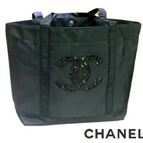 e31d3e4730f5 Chanel VIP Precision Gift Sequin Tote Shoulder Bag