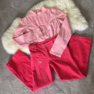 Osh Kosh Other - Set of pink blouse and corduroy pants