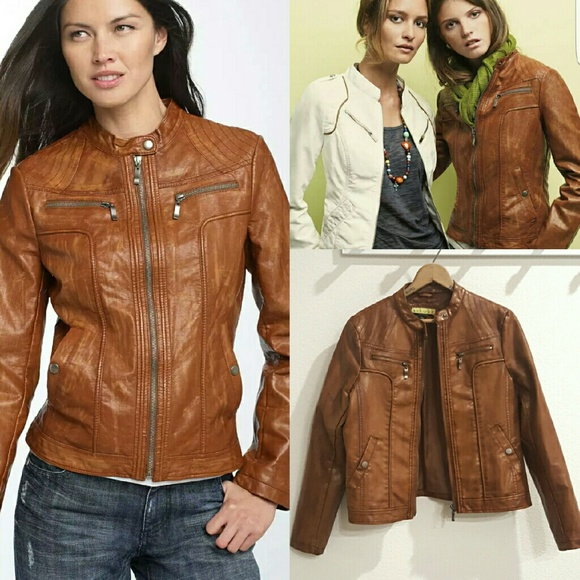 6ff26a4ea Ashley B Nordstrom Faux Leather Moto Jacket