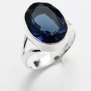 Gorgeous blue iolite ring size 8 gift idea!