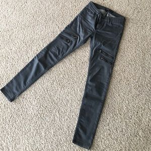 Zara Denim Skinny Zip Jeans