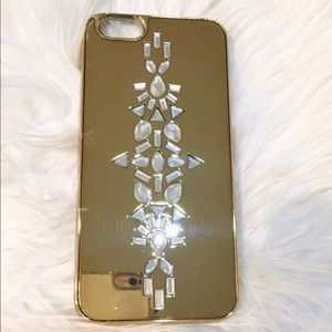 BAUBLEBAR Accessories - BAUBLEBAR gold jeweled iPhone 6 case