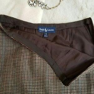 Ralph Lauren Dresses & Skirts - Ralph Lauren Blue Label WOOL houndstooth midi