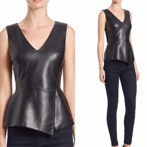 •Bailey 44 Black faux leather top size M•