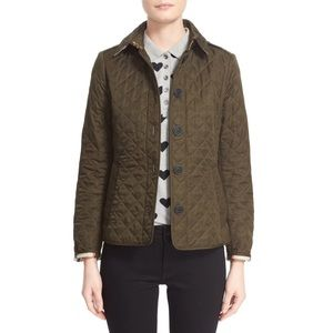 Burberry Ashurst Quilted Olive Jacket Size XL