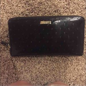 kate spade Handbags - Authentic Kate spade black wallet FIRM