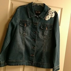 live a little Jackets & Blazers - Blue jean jacket with lace