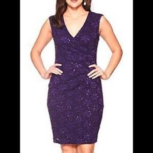 Connected apparel Dresses & Skirts - Gorgeous lace and sequin purple dress