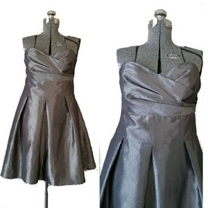 After Six Dresses & Skirts - After Six pewter silver strapless formal gown 14