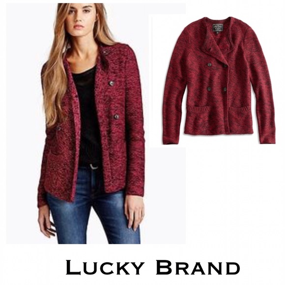 69% off Lucky Brand Sweaters - Lucky Brand Red Multi Marled ...