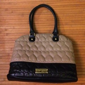 Betsey Johnson Quilted Heart Purse