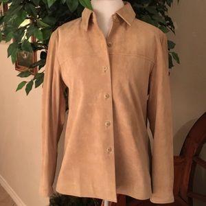 PENDELTON 100% Washable Suede Leather Jacket sizeM