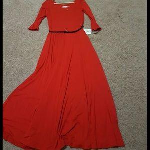 CK red dress