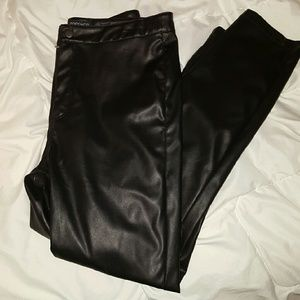 Topshop faux leather pants