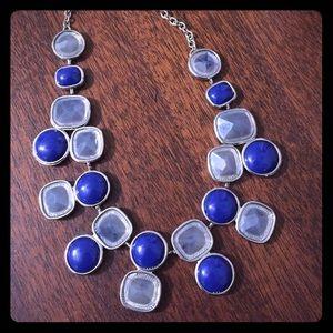 New York & Company Jewelry - NY&C | Statement Necklace Blue Silver