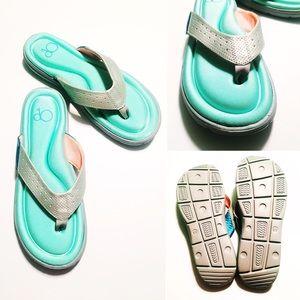 Op.  Shoes - NWOT Memory Foam Flip Flops
