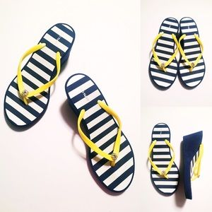 Nautical Wedge Flip Flops