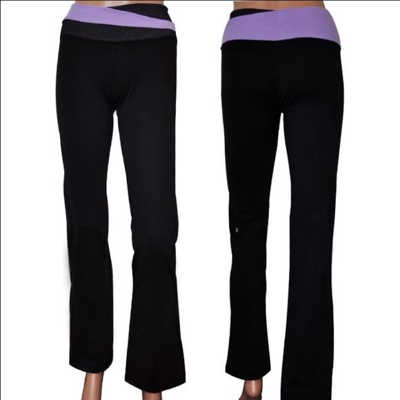 58aba73702 lululemon athletica Pants | Lululemon Astro Yoga Pant Purple Band ...