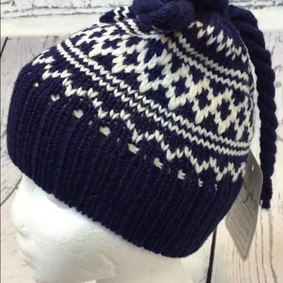 f6505cd007d Vintage Marceau 100% Wool Minnetonka Pom Pom Hat