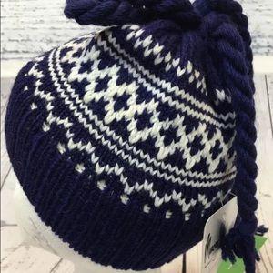 7260643c558 Vintage Accessories - Vintage Marceau 100% Wool Minnetonka Pom Pom Hat