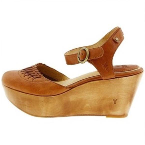 cdb0bbc32ef Frye Shoes - Frye Blair Ankle Strap Platform wedge. Size 11M.