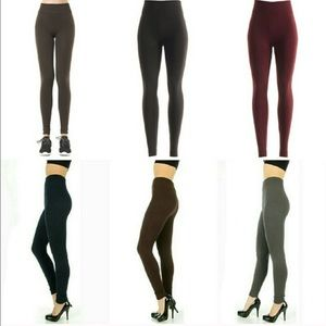 Cable knit footless fleece leggings