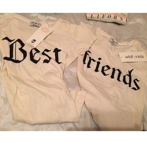 5e85a6629 Wildfox Shirts   Tops - Wildfox Girls BEST FRIENDS tee shirt set 14