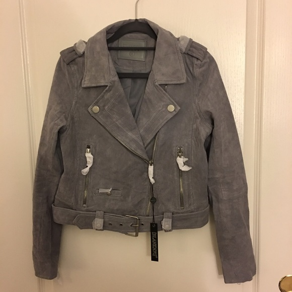 645df841ee Blank NYC Jackets & Coats | Nwt Blanknyc Suede Moto Jacket In Cloud ...