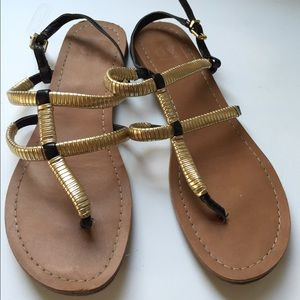 Dolce Vita size 7 gold and black sandals