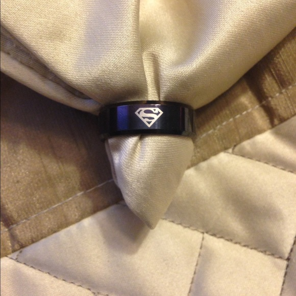 Other - 🆕 Black Stainless Steel Superman Ring