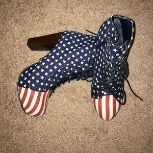 Jeffrey Campbell Shoes - Faux Jeffery Campbell American Flag heels