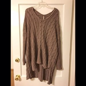 Free People Oversized Cable Knit Sweater