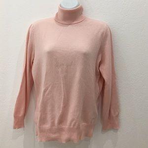 Ralph Lauren Black Label Tops - Ralph Lauren Blush Pink Cashmere Turtleneck Top L