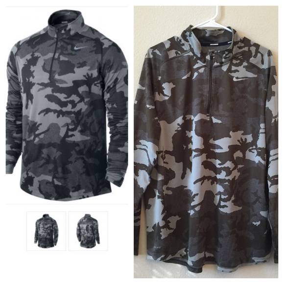 nike camouflage running top