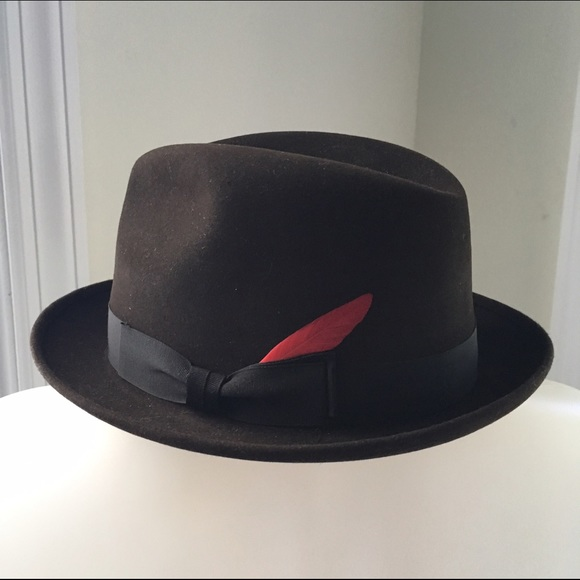 MATT ANDREWS Vintage Felted Feathered Fedora. M 5848e03bbcd4a75c6100e8a6 d73f99835726