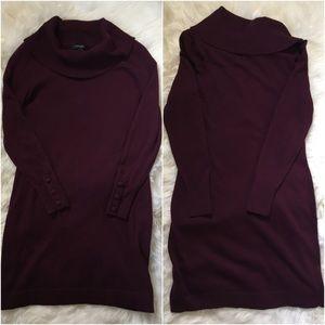 Banana Republic Dresses & Skirts - Banana Republic Burgundy Cowl Neck Sweater Dress