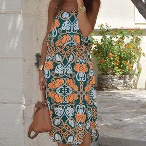 H&M abstract print dress sz 10, like new