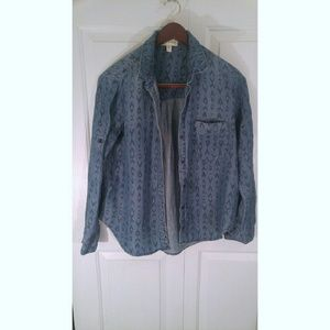 ANTHROPOLOGIE CLOTH AND STONE BUTTON DOWN SHIRT L