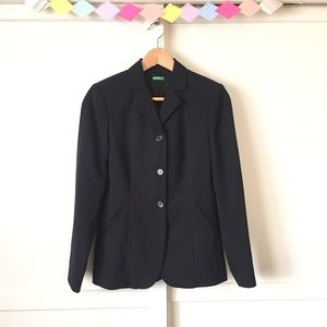 United Colors Of Benetton Jackets & Blazers - Black Made in Italy of Benetton Blazer