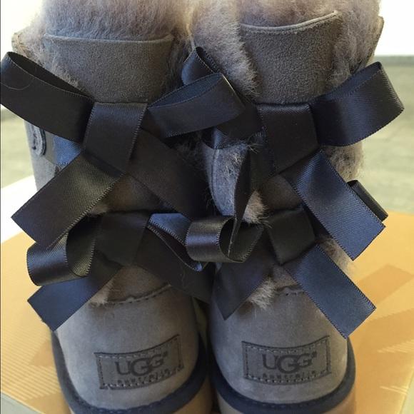 ugg shoes kids bailey bow stormy grey boots size 13 new poshmark rh poshmark com