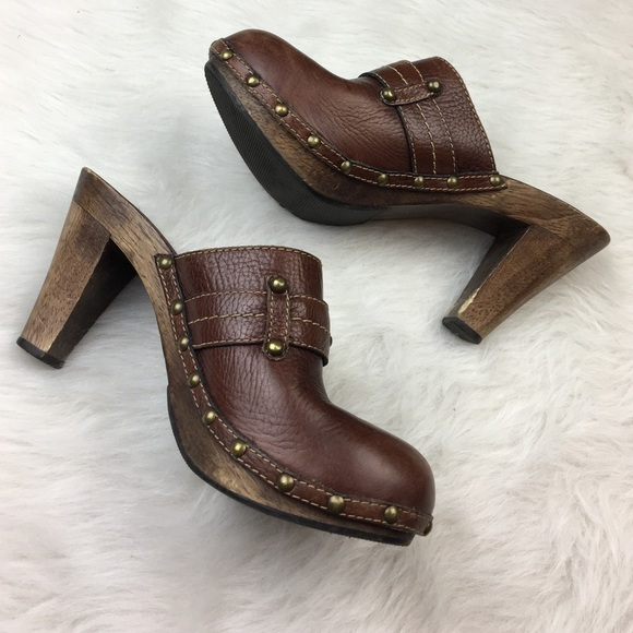 Studded Clog Mules Mh4SkS