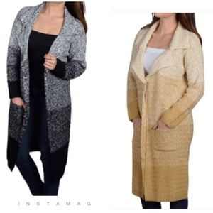 Sweaters - 🆕Notched collar - length overcoat