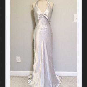 Betsy & Adam Dresses & Skirts - Betsy & Adam Silver Mermaid Gown, 10